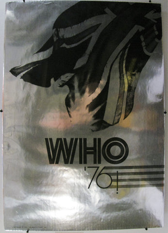 WHO 1976 CHROME TOUR POSTER