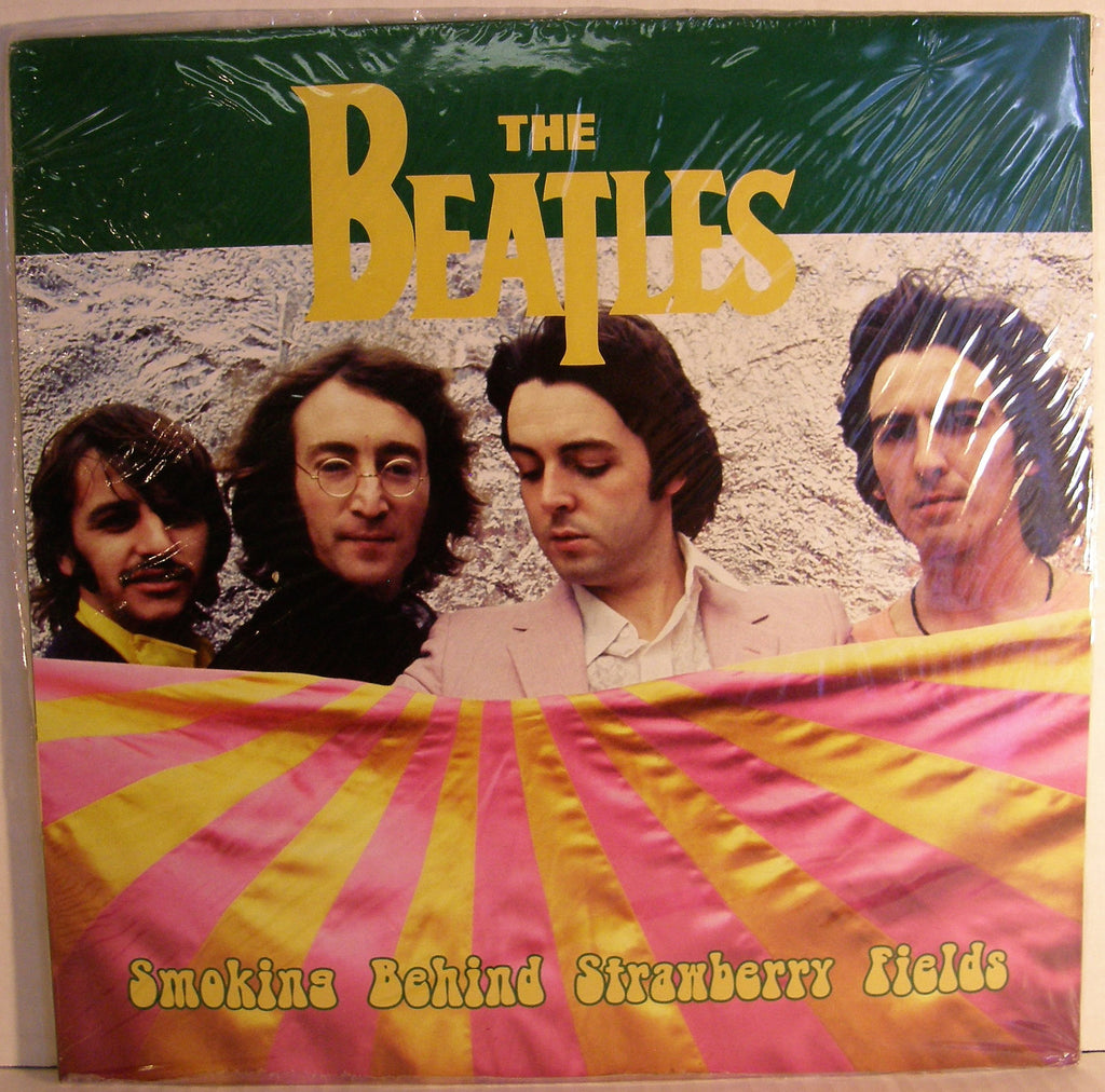 BEATLES SMOKING BEHIND STRAWBERRY FIELDS BLUE VINYL