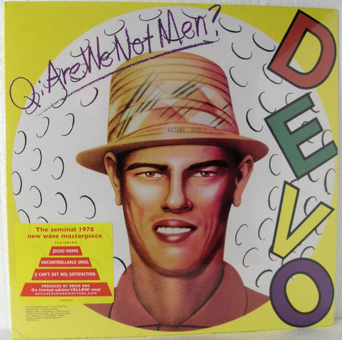 DEVO Q; ARE WE NOT MEN  YELLOW VINYL