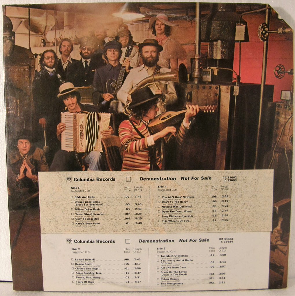 BOB DYLAN & THE BAND BASEMENT TAPES WHITE LABEL PROMO