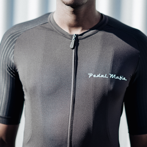 Black Tech Jersey (white logo), Jersey, Pedal Mafia, CategoryOne