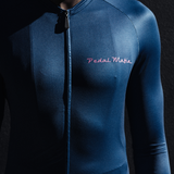 Navy Pink Tech Long Sleeve Jersey, Jersey, Pedal Mafia, CategoryOne