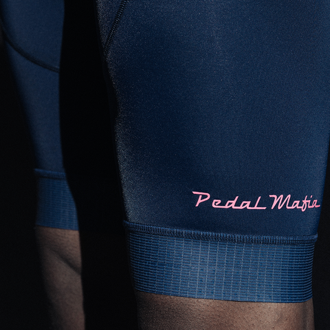The Tech Bib Navy Pink, Bib Shorts, Pedal Mafia, CategoryOne