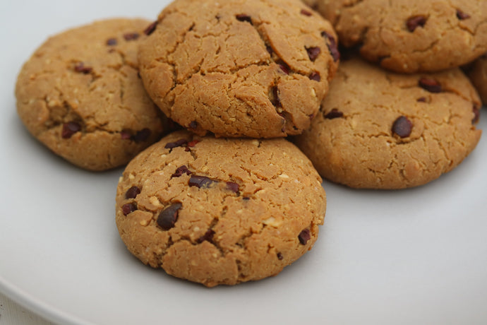 Vanilla dream peanut butter cacao nib cookies