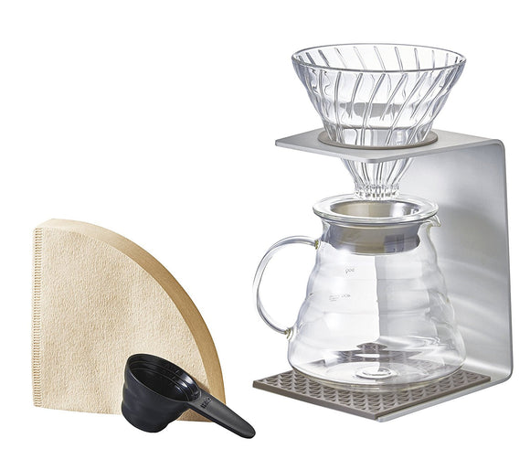 Hario V60 Aluminum Single Stand Set - hero-in coffee