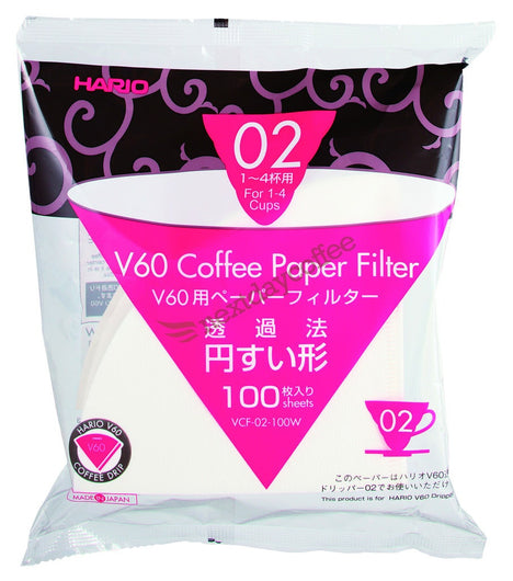 V60-02 Paper Filter x 100 sheets - hero-in coffee