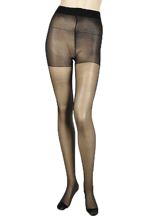 Sheer High Support Stockings, Black