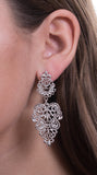 Bohemian Cutout Earrings, Silver