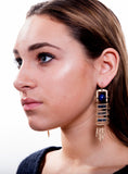 Natural Stone Layered Bead Swing Earrings