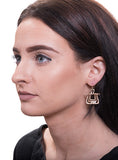 Matte Finish Layered Metal Earrings