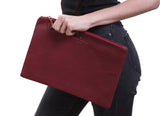 PU Leather Fashion Clutch Bag, Red Wine