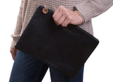 PU Leather Fashion Clutch Bag, Black