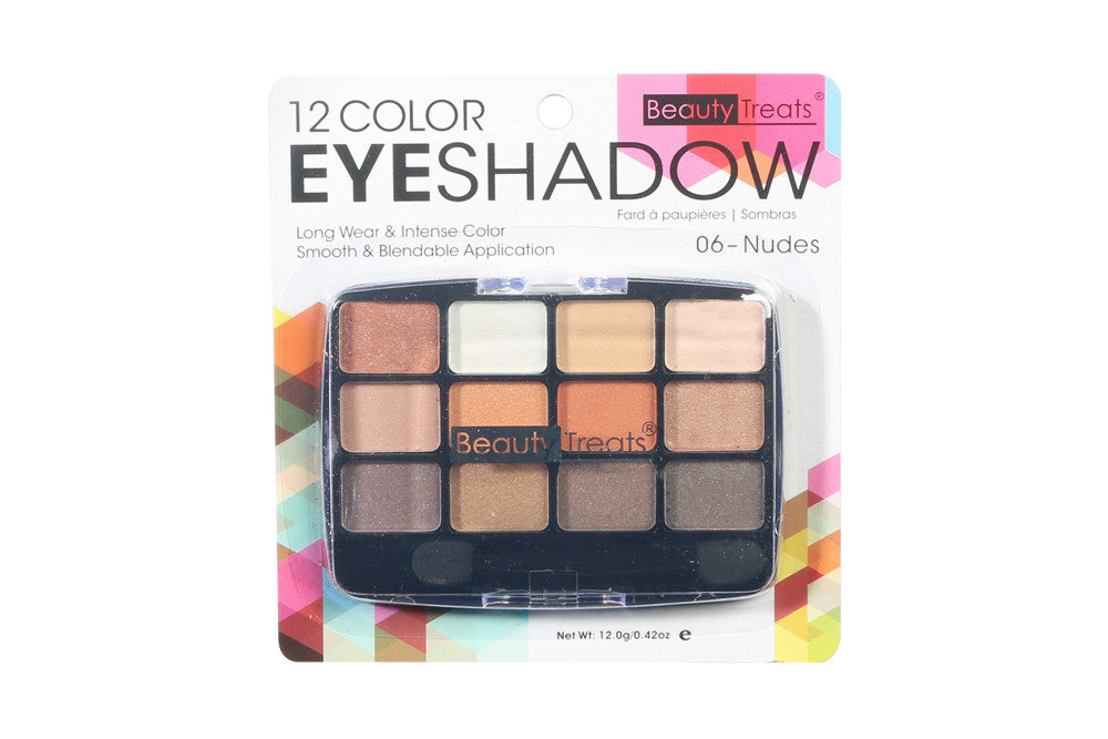 12 Color Beauty Treats Eyeshadow Palette, Nudes