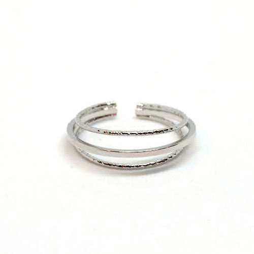 Triple Layer Ring, Silver