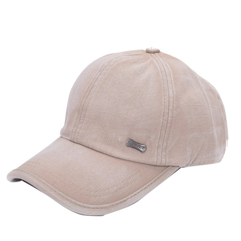 Classic Adjustable Baseball Sport Cap, Beige