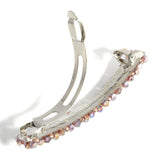 Crystal Beads Barrette, Pink