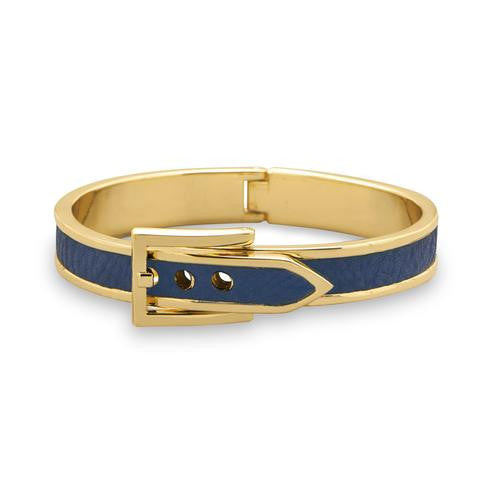 Belt Design Bangle Bracelet, Blue
