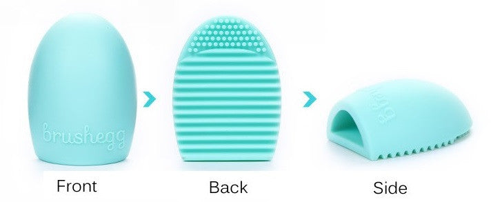 Makeup Brush Cleaning Egg, Teal