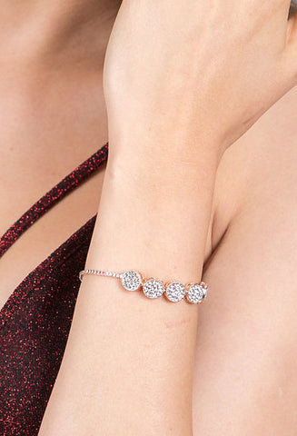 Entwined Magnetic Lock Bracelet, Rose