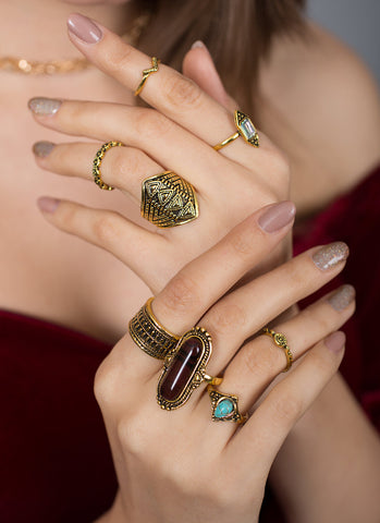 Pretty Antique Gold Ring Set