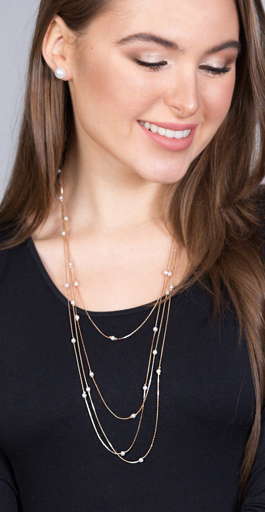 Gold & Pearl Layered Necklace