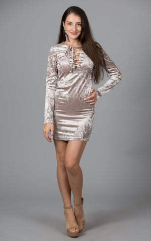 Sequin Chevron Mini Dress