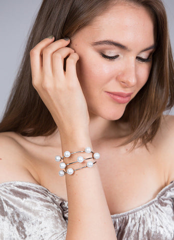 Crystal Beaded Stretch Bracelet Set