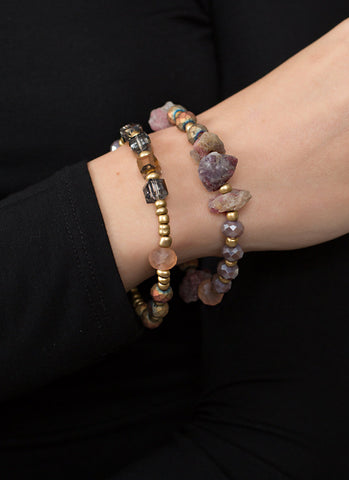 Hematite Ball Stretch Bracelet Set