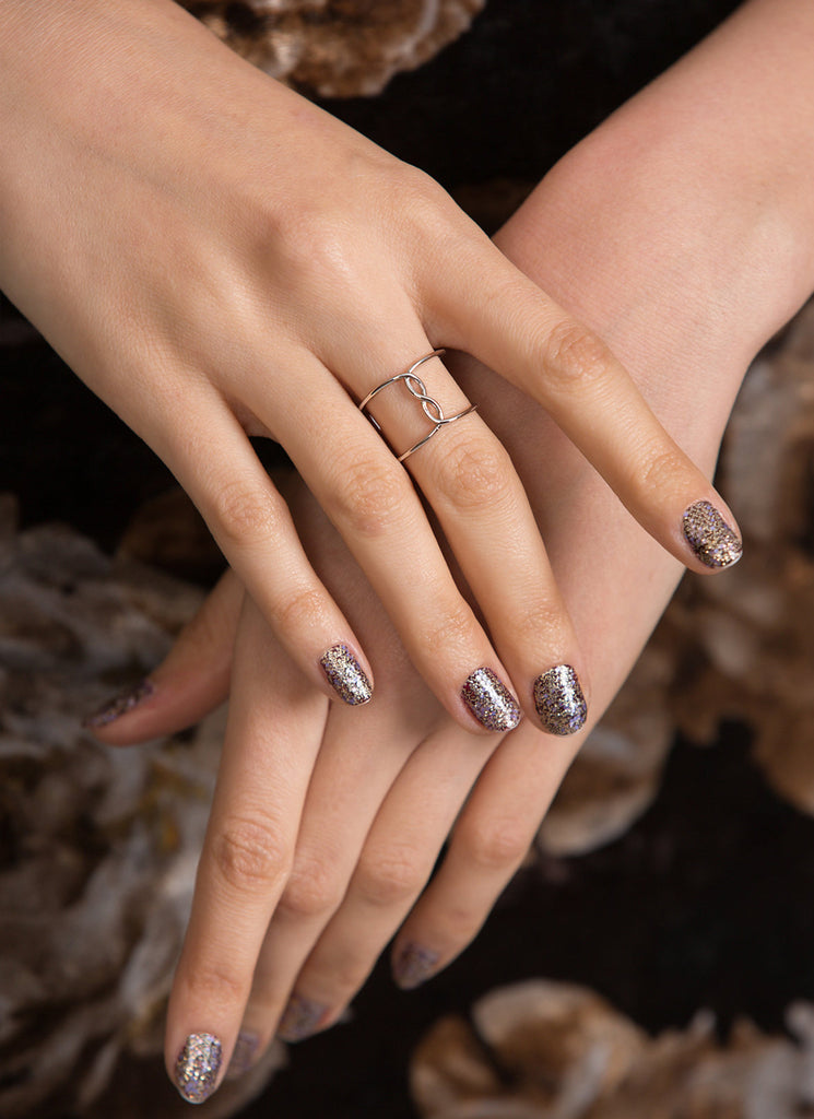 Center Infinity Silver Caged Ring