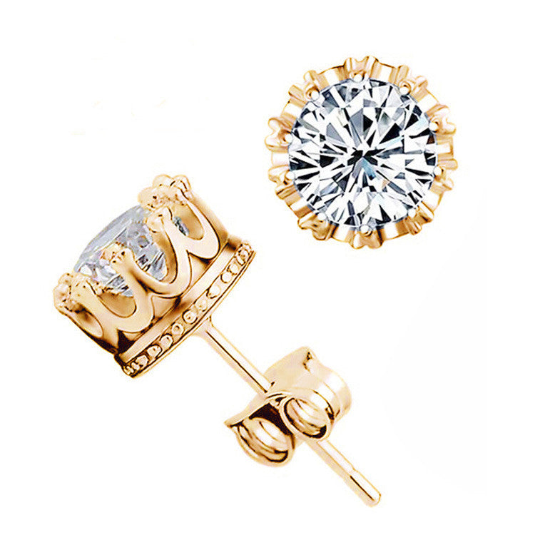 earrings women diamond halo s stud cz