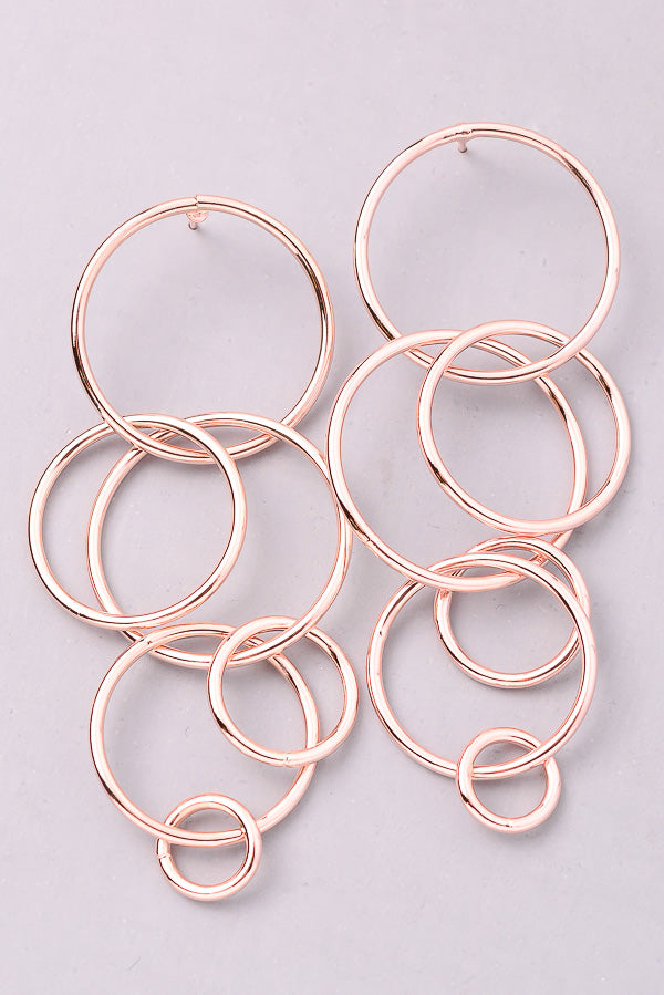 Entwined Circle Dangle Earrings