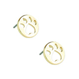 Gold Paw Post Earrings