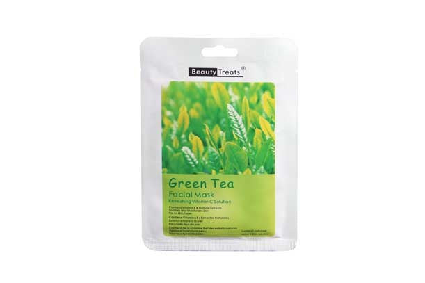 Beauty Treats Facial Mask, Green Tea