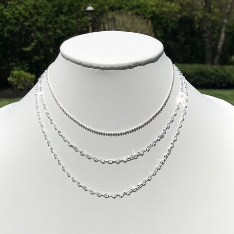 Dainty Silver Triple Layer Choker