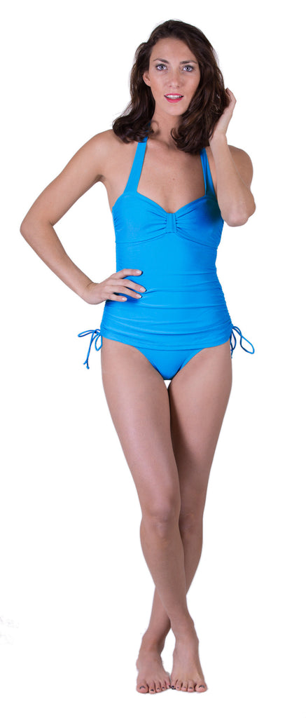 Vintage Inspired Swimsuit, Blue