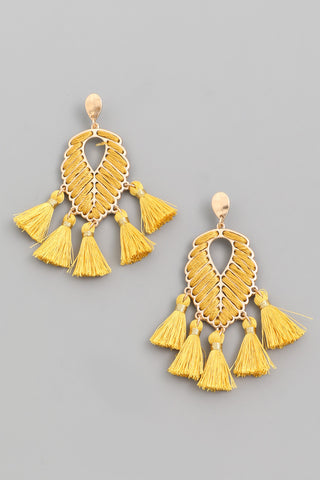 Wood Beads Drop Earrings