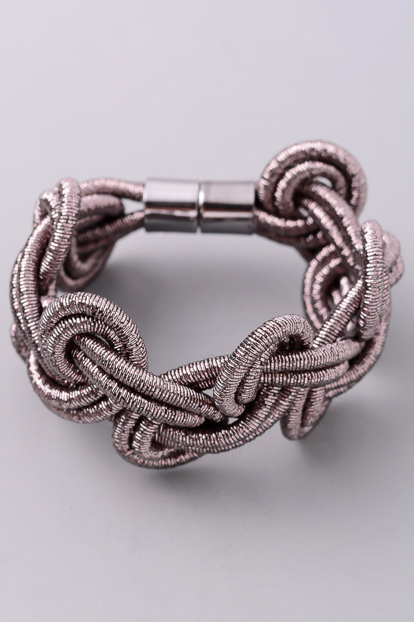 Entwined Magnetic Lock Bracelet