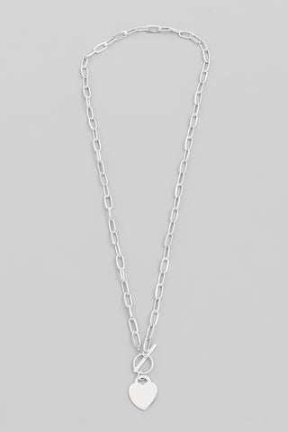Butterfly Matte Metal Necklace, Silver