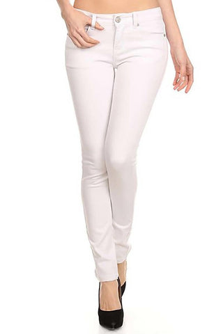 Basic 5 Pockets Long Pants, White