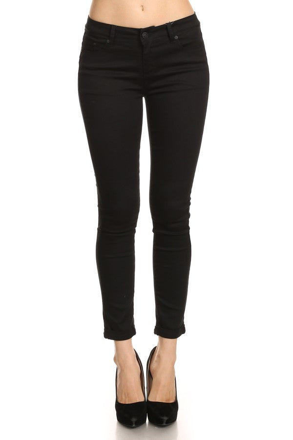 Full Length Skinny Pants, Black