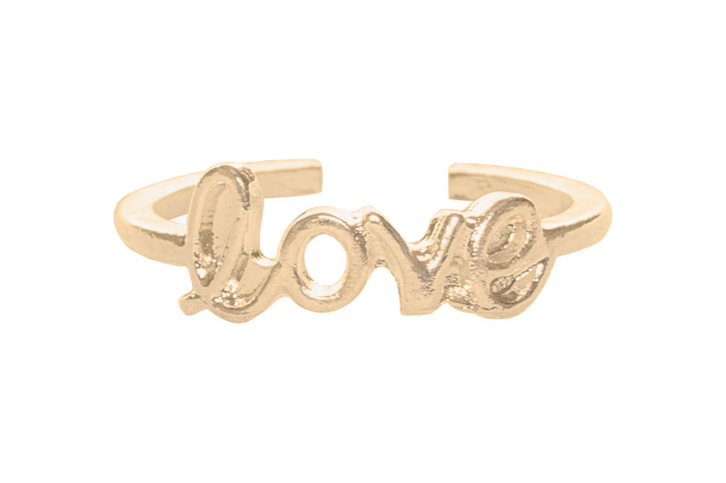 Simple Love Toe Ring, Gold
