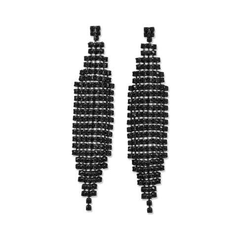 Stunning Black Drop Crystal Earrings