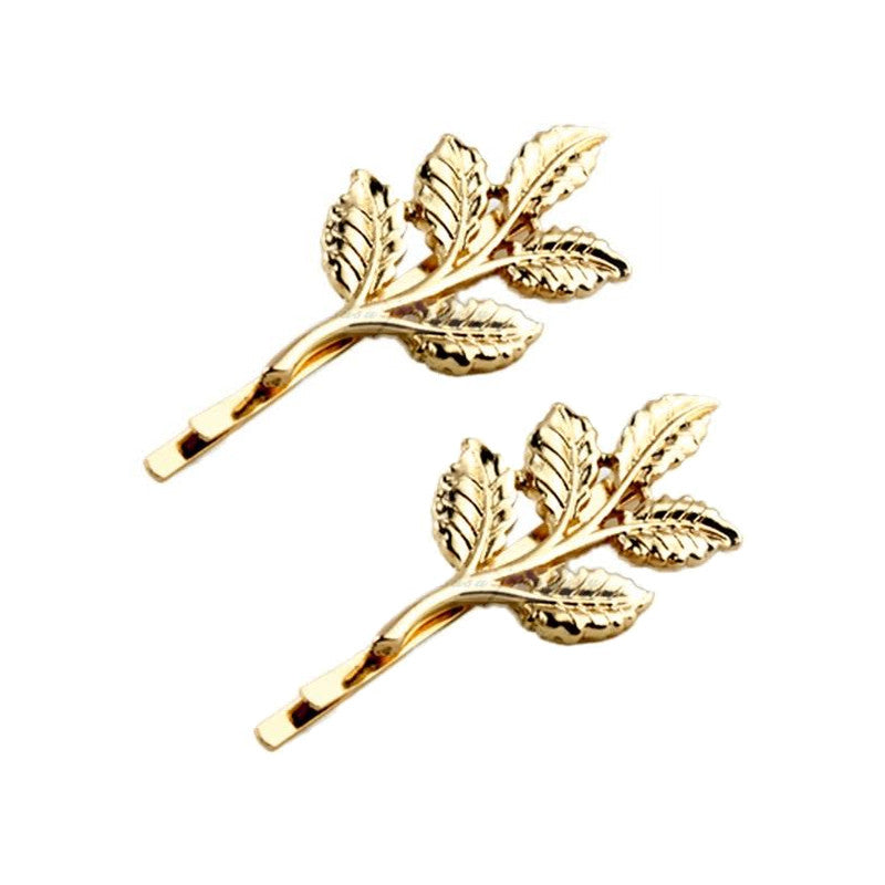Gold Leaves Hair Clip, Set of 2