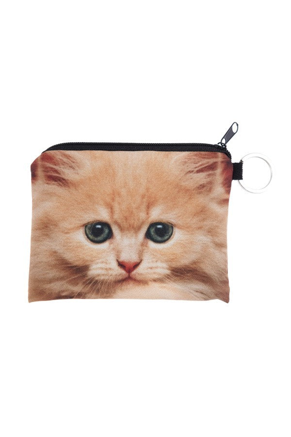 Printed Pouch Wallet, Ginger Cat