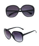 Round Fashion Sunglasses, Black