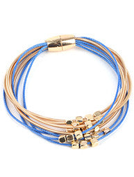 Beautiful Wired Beads Open Bangle, Gold/Rhodium