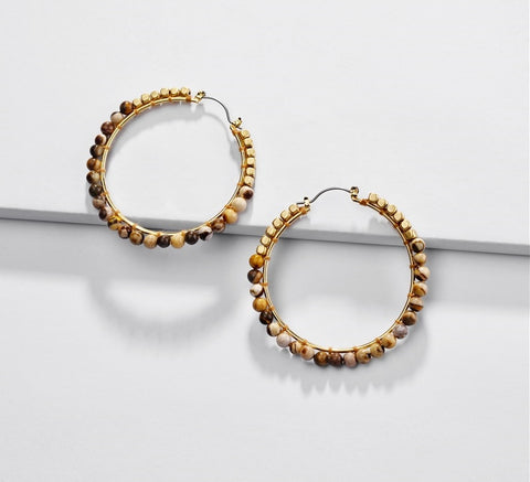 Stunning Chic Wire Earrings, Gold