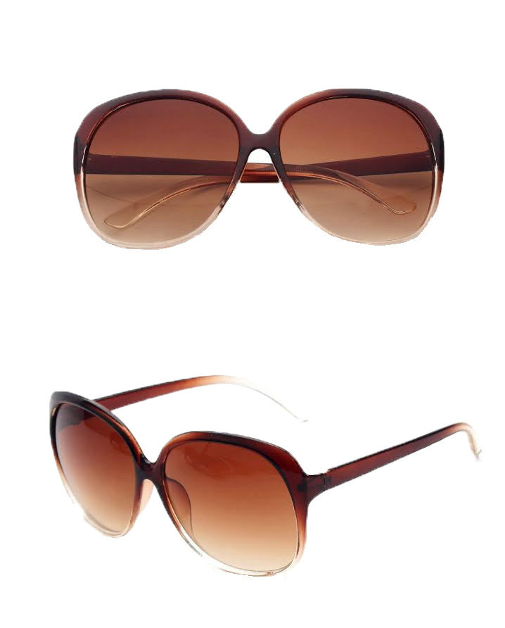 Round Fashion Sunglasses, Brown