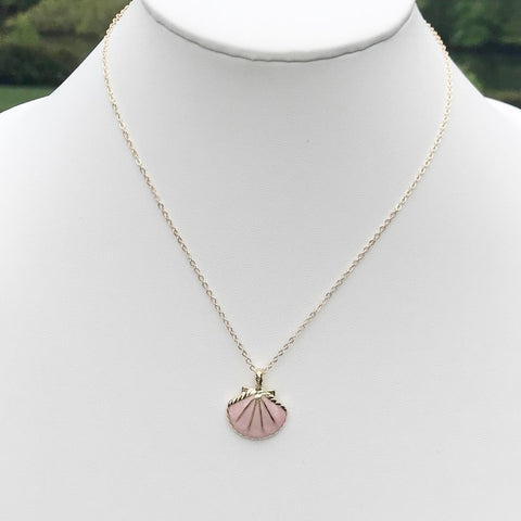 Delicate Flower Disc Necklace, Dandelion Puff