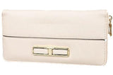 Wallet With Gold Buckle, Ivory